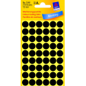 Kółka do zaznaczania Avery Zweckform - Ø 12 mm - czarne