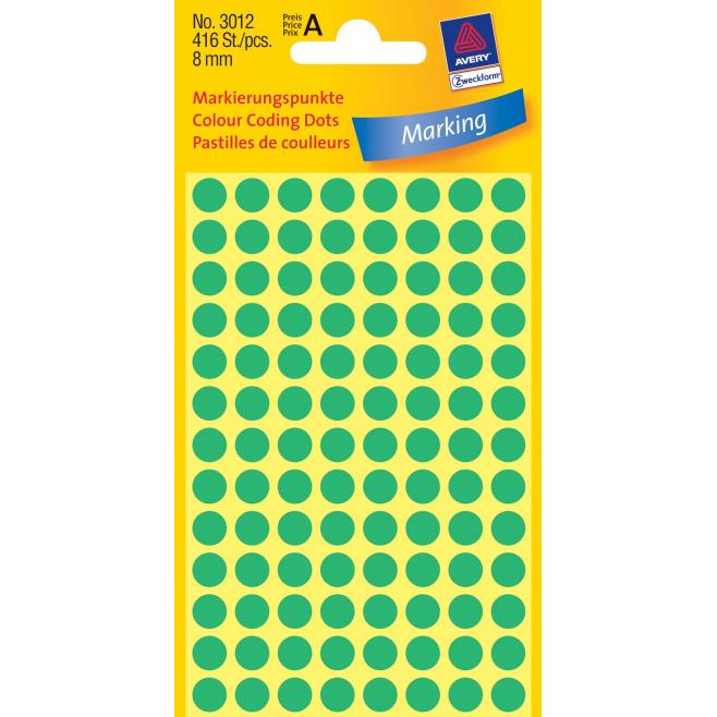 Kółka do zaznaczania Ø 8 mm - zielone