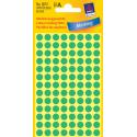 Kółka do zaznaczania Avery Zweckform - Ø 8 mm - zielone