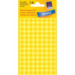 Kółka do zaznaczania Avery Zweckform - Ø 8 mm - żółte