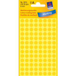 Kółka do zaznaczania Ø 8 mm - żółte