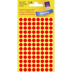 Odblaskowe kółka do zaznaczania Avery Zweckform - Ø 8 mm - czerwone