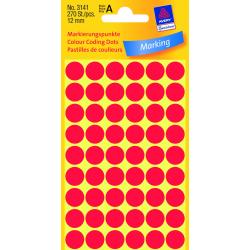 Kółka do zaznaczania Avery Zweckform - Ø 12 mm - czerwone