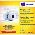 Usuwalne etykiety cenowe do metkownicy - jednorzędowe - 12x26 /10 rol