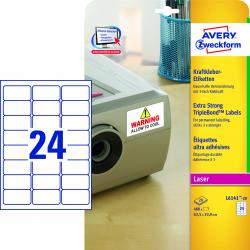 Etykiety TripleBond™ A4 - 63,5x33,9Avery Zweckform / 20 ark