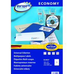 Uniwersalne etykiety Economy A4 - 210x297mm /100 ark