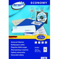 Uniwersalne etykiety Economy A4 - 38x21,2mm /100 ark