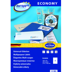 Uniwersalne etykiety Economy A4 - 210x148mm /100 ark