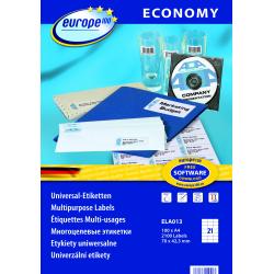 Uniwersalne etykiety Economy A4 - 70x42,3mm /100 ark