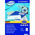 Etykiety uniwersalne Economy A4 - 105x42,3mm /100 ark