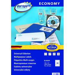 Uniwersalne etykiety Economy A4 - 70x35mm /100 ark