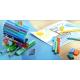 Pisaki Faber-Castell Connector - Przybornik - 45 kolorów