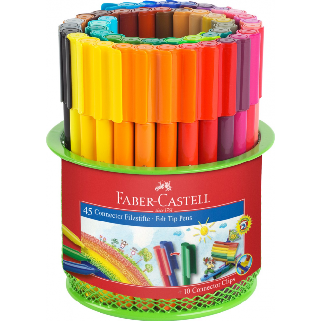 Pisaki CONNECTOR przybornik - 45 kolorów