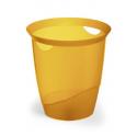 Kosz na śmieci TREND - pomarańczowy / transparentny
