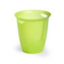 Kosz na śmieci TREND - zielony / transparentny