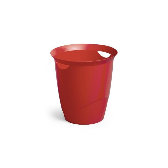 Kosz na śmieci TREND - czerwony