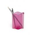 Pojemnik na długopisy TREND -różowy / transparentny