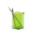 Pojemnik na długopisy TREND - jasnozielony / transparentny