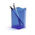 Pojemnik na długopisy TREND - niebieski / transparentny