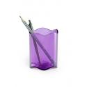 Pojemnik na długopisy TREND - fioletowy / transparentny