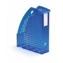 Pojemnik na katalogi A4 TREND - niebieski / transparentny