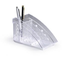Przybornik na biurko TREND - transparentny