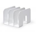Stojak na katalogi z przegródkami - TREND - biały