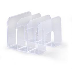 Stojak na katalogi z przegródkami - TREND - transparentny