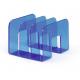 Stojak na katalogi TREND - niebieski / transparentny