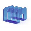 Stojak na katalogi z przegródkami - TREND - niebieski / transparentny