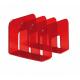 Stojak na katalogi TREND - czerwony  /  transparentny