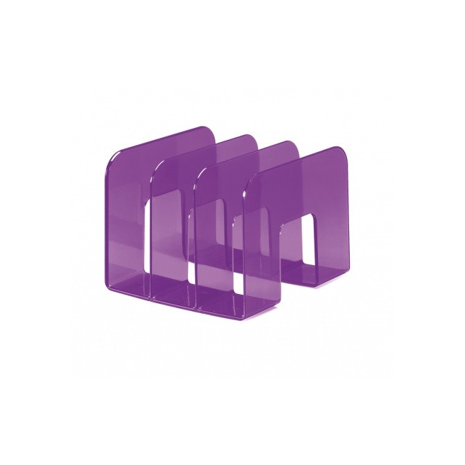 Stojak na katalogi TREND - fioletowy / transparentny