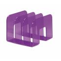 Stojak na katalogi z przegródkami - TREND - fioletowy / transparentny