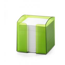 Pojemnik z karteczkami Trend - jasnozielony / transparentny