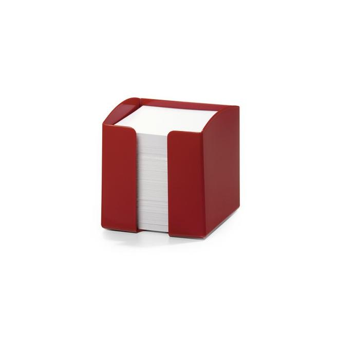 Pojemnik z karteczkami Trend - czerwony