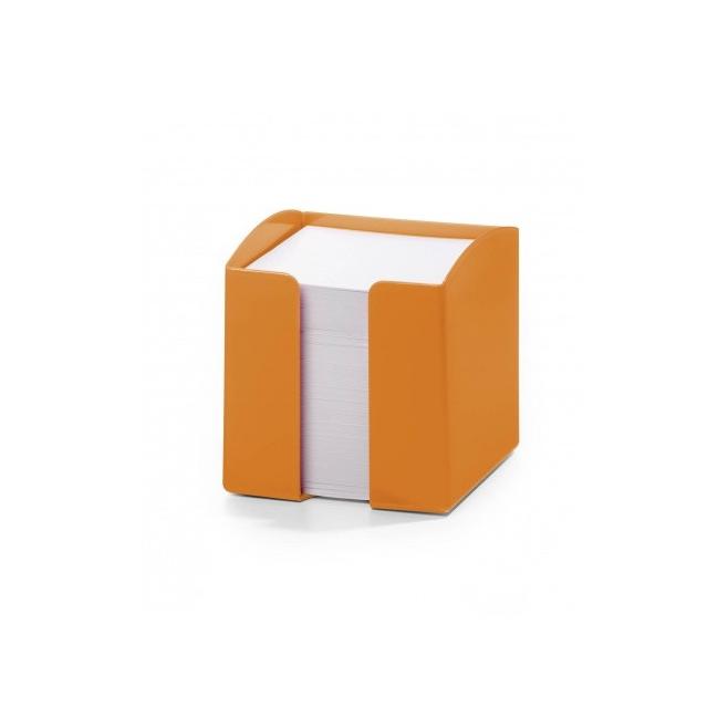 Pojemnik z karteczkami Trend -pomarańczowy