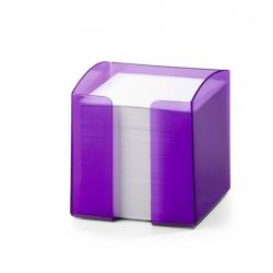 Pojemnik z karteczkami Trend - fioletowy / transparentny