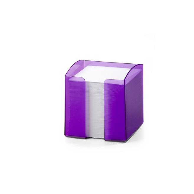Pojemnik z karteczkami Trend -fioletowy / transparentny