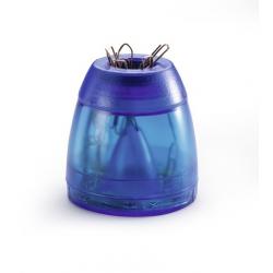 Pojemnik ze spinaczami Trend - niebieski / transparentny