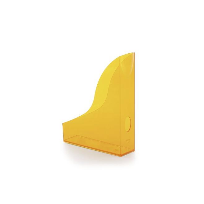 Pojemnik na katalogi A4 Basic - pomarańczowy  / transparentny
