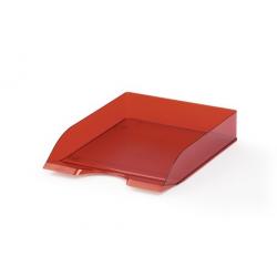 Półka na dokumenty A4 BASIC - czerwona / transparentna