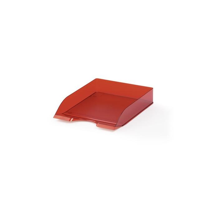 Półka na dokumenty A4 Basic -czerwona / transparentna