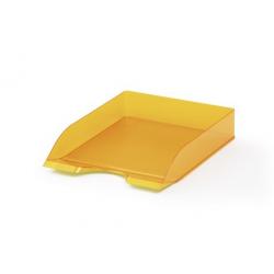 Półka na dokumenty A4 BASIC - pomarańczowa / transparentna
