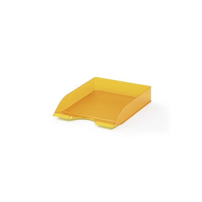 Półka na dokumenty A4 Basic -pomarańczowa / transparentna