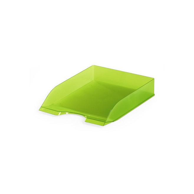 Półka na dokumenty A4 Basic - jasnozielona / transparentna