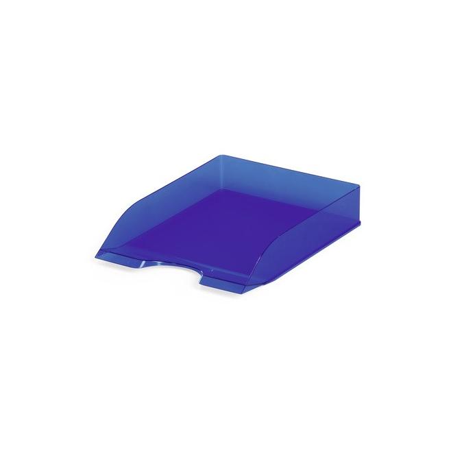Półka na dokumenty A4 Basic - niebieska  / transparentna