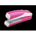 Zszywacz mini Leitz WOW - różowy metaliczny