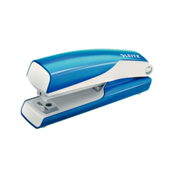 Zszywacz mini Leitz WOW - niebieski metaliczny