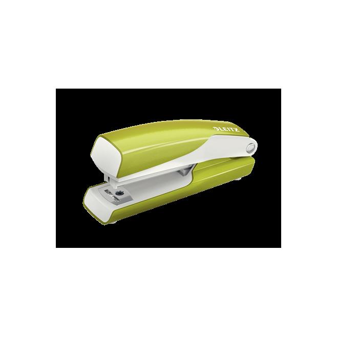 Zszywacz mini Leitz WOW - zielony metaliczny