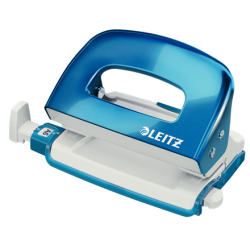 Dziurkacz mini metalowy Leitz WOW - niebieski metaliczny